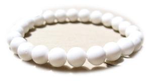 ホワイトオニキス数珠ブレスレット