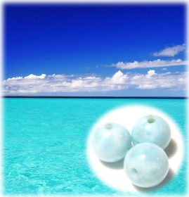 青い海ラリマー